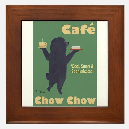 Café Chow Chow Framed Tile