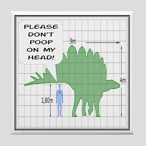 Please Don't Poop Tile Coaster