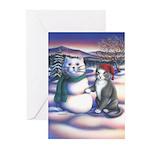 Snowcats Greeting Cards (Pk of 10)