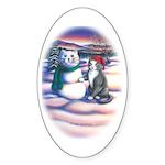 Snowcats Oval Sticker
