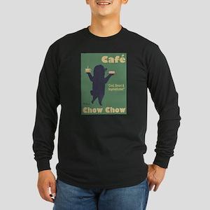 Café Chow Chow Long Sleeve Dark T-Shirt