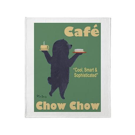 Café Chow Chow Throw Blanket