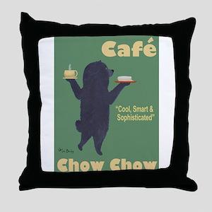 Café Chow Chow Throw Pillow