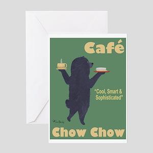 Café Chow Chow Greeting Card