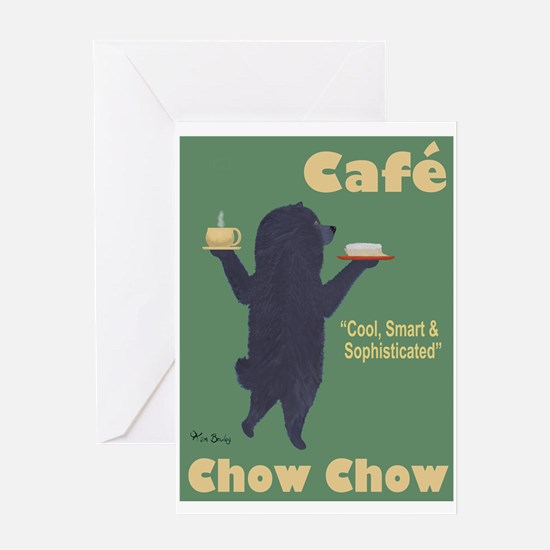 Café Chow Chow Greeting Card