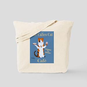 Calico Cat Café Tote Bag