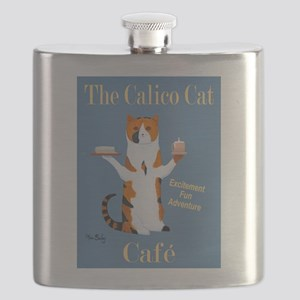 Calico Cat Café Flask