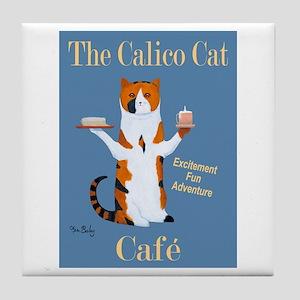 Calico Cat Café Tile Coaster