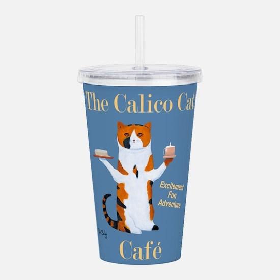 Calico Cat Café Acrylic Double-wall Tumbler