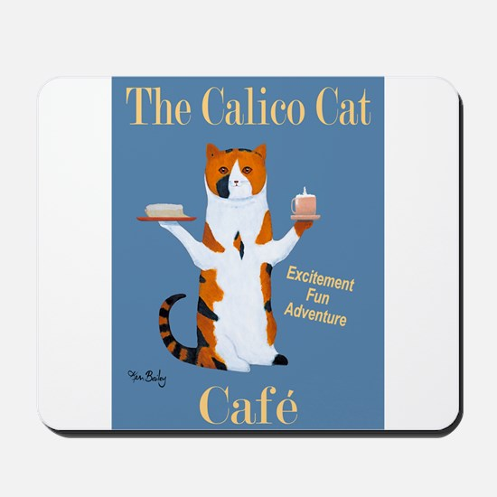 Calico Cat Café Mousepad