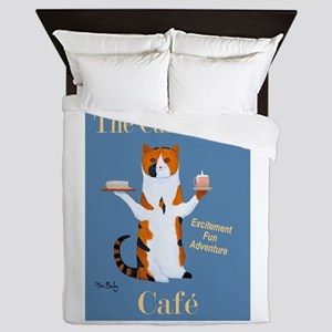 Calico Cat Café Queen Duvet