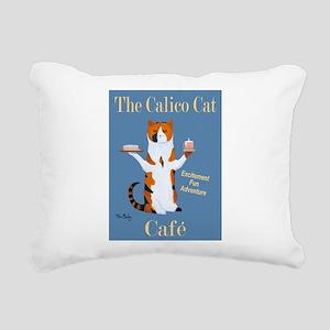Calico Cat Café Rectangular Canvas Pillow
