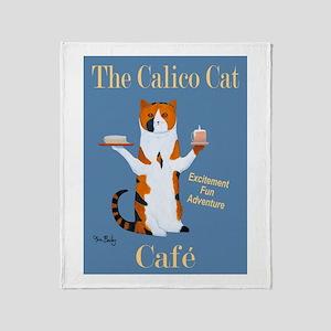 Calico Cat Café Throw Blanket
