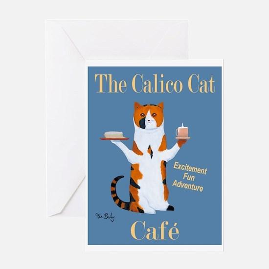 Calico Cat Café Greeting Card