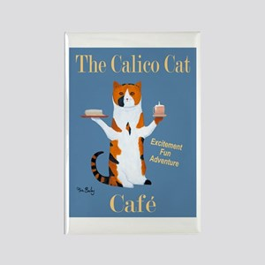 Calico Cat Café Rectangle Magnet