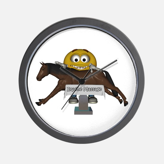 Smiley Equine Massage Wall Clock