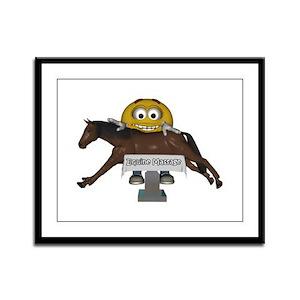 Smiley Equine Massage Framed Panel Print