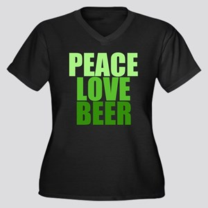 peacelovebeerblack Plus Size T-Shirt