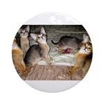Cute Aby Kittens Round Ornament