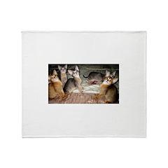 Cute Aby Kittens Throw Blanket