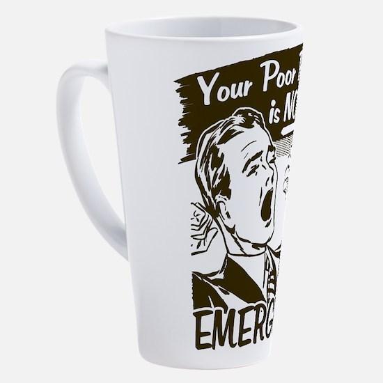 Cute Office assistant job 17 oz Latte Mug
