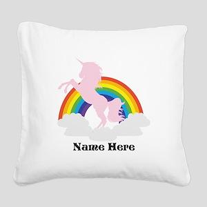 Unicorn Magic Personalized Square Canvas Pillow
