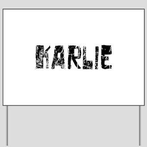Karlie Faded (Black) Yard Sign