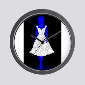 Snow Queen On Black Wall Clock