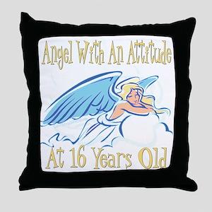 Angel Attitude 16th Throw Pillow