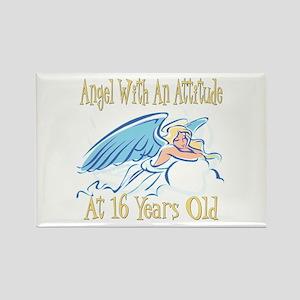 Angel Attitude 16th Rectangle Magnet