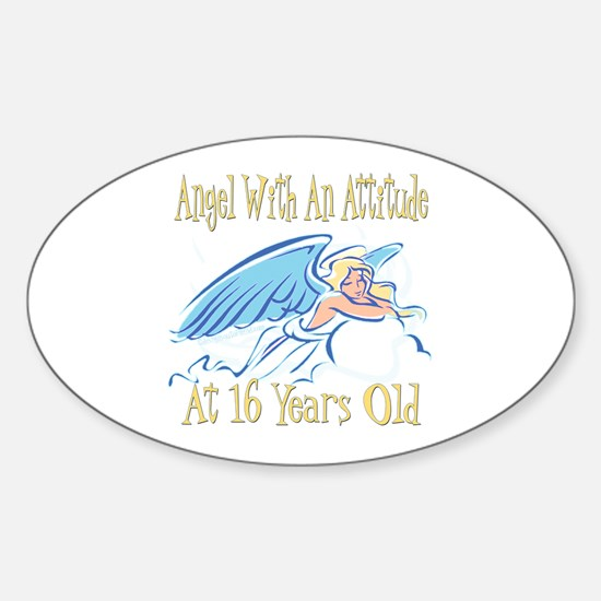 Angel Attitude 16th Oval Decal