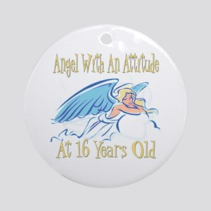 Angel Attitude 16th Ornament (Round)