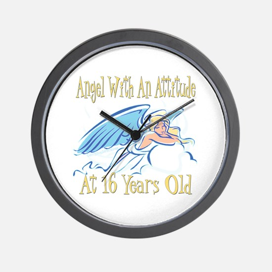 Angel Attitude 16th Wall Clock