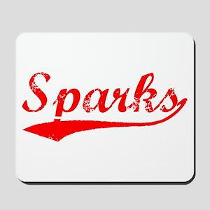 Vintage Sparks (Red) Mousepad