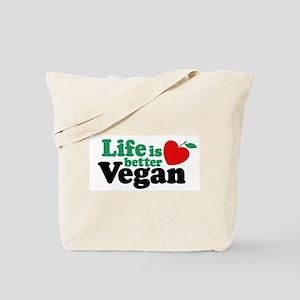 Life is Better Vegan Tote Bag