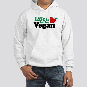 Life is Better Vegan Hooded Sweatshirt