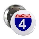 "JULY FOURTH 2.25"" Button (10 pack)"