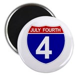 "JULY FOURTH 2.25"" Magnet (100 pack)"