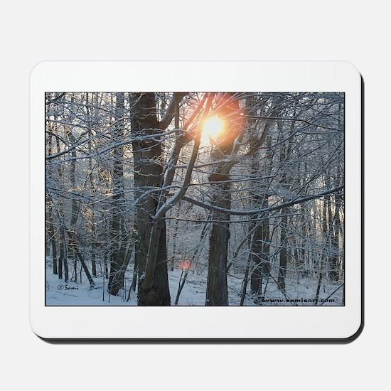 Snowy Sunrise Mousepad