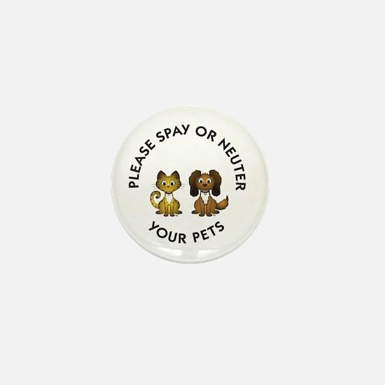 Spay or Neuter Mini Button
