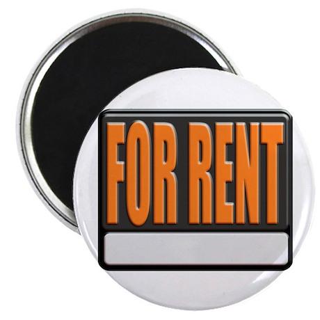 For Rent Sign Magnet