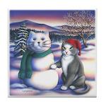 Snowcats Tile Coaster