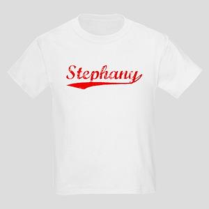 Vintage Stephany (Red) Kids Light T-Shirt
