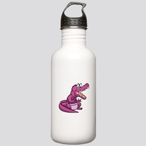 Pink Baby Aligator Stainless Water Bottle 1.0L