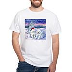 Northern Lights White T-Shirt
