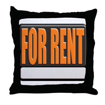 For Rent Sign Throw Pillow