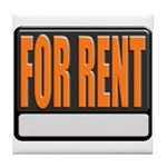 For Rent Sign Tile Coaster
