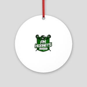 Fayetteville Manlius Hornets Lacros Round Ornament