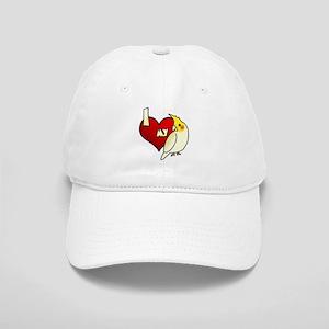 I Love my Lutino Cockatiel Hat