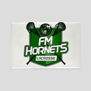 Fayetteville Manlius Hornets Lacrosse Logo Magnets